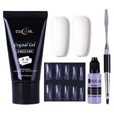 4stk/set Klar Nagel Poly UV Gellack Erweiterung Kleber False Nagel Slip-Lösung