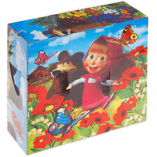 Masha and The Bear Russian Block Puzzle for Kids - Кубики Маша и Медведь