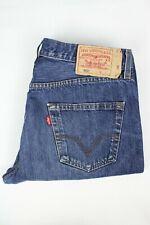 Mens Vintage LEVIS 501 Denim Jeans W34 L30 Regular Straight Leg Dark Blue