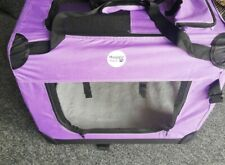 HugglePets Fabric Dog Crate Puppy Carrier - Cat Travel Cage Pre-owned VGC