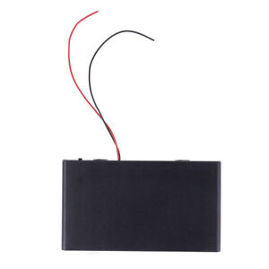 DIY box holder case with cover on/off switch wire for 8x 1.5V AA battery DC12^lk