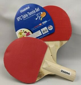 Set of 2 Replacement Table Tennis Paddles Ping Pong FamilyMaid Red Black