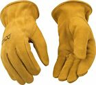 Kinco 50 Unlined Mens Suede Work Gloves Cowhide Driver Farm Gardening SM-XXL NWT
