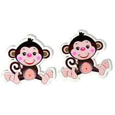 250x Wholesale Mixed Colorful Cartoon Monkey Animal Wooden Button Fit Sewing J