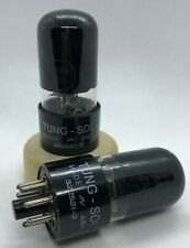 6V6GT Tung-Sol black glass 2 pieces NOS tube valve