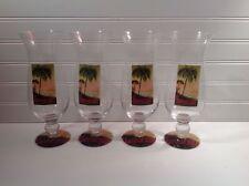 Beautiful Hurricane Glasses Set of 4