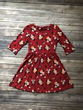 Forever 21 Girls Holiday Party Dress Red Floral  Christmas Size 9/10 XXI