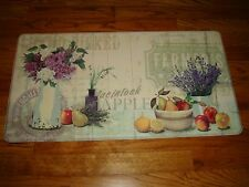 Soft Stand PVC Foam Anti Fatigue Kitchen Floor Mat Rug 21x39 Apples FRUIT Floral