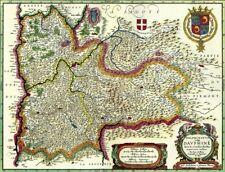 Reproduction carte ancienne - Dauphiné XVIIè