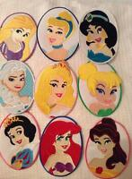 Disney Princess Oval Patch Embroidered Motif Belle Jasmine Tinkerbell Aurora