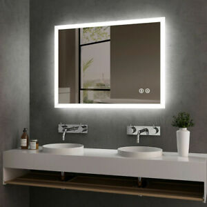 1000x700mm LED Bathroom Mirror Lights/Touch Sensor/Demister/Bluetooth Speaker