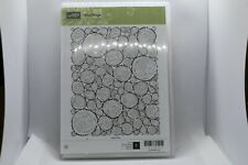 New Retired Tree Rings Stampin Up Rubber Stamps - 143964