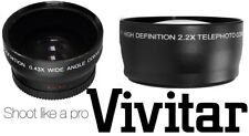 Hi Def 2-Pc Set Wide Angle & Telephoto Lens Kit For Panasonic HDC-SDT750