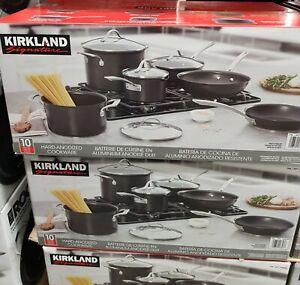 Kirkland Signature Hard Anodised Induction 10 Piece Cookware Set