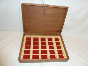 vintage wooden 35mm slide/transparency box, holds 175 colour slides