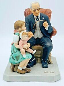 "Norman Rockwell Porcelain Figurine ""Little Patient"" 1981, COA, Limited Edition"