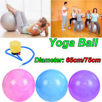 Women Anti-Burst Yoga Exercise Ball Gym Pilates Balance Fitness + Air Pump