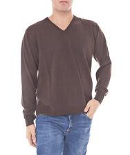 Romeo Gigli Herren V-Neck Pullover Braun Gr. M/L NEU + Rechnung mit MwSt.