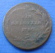 1780 Oostenrijk - Austria 1 Kreuzer 1780 S Maria Theresia