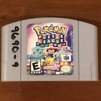 Pokemon Puzzle League (Nintendo 64, N64 2000) Authentic Cart Only Tested Works!