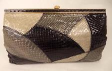 Jane Shilton NERO Grigio Serpente Cuoio Pochette o Shoulder Bag Handbag FRAME