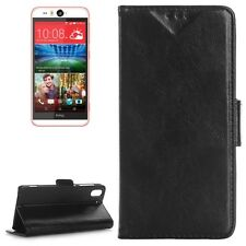 COVER CUSTODIA PER HTC DESIRE EYE M910X IN PELLE NERO +2SLOT STAND CASE SLIM