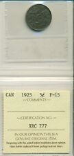ICCS CAN 1925 5 cents F-15 XRC 777