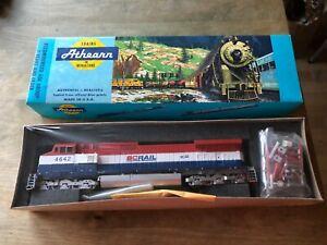 Athearn, HO scale locomotives, 4927, Dash 9-44CW, C44-9W, BC Rail 4642, Powered