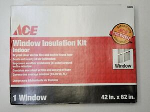 """Ace Window Insulation Kit Crystal Clear Indoor 18 Sq. Ft. (42"""" x 62"""") 59829 NEW"""