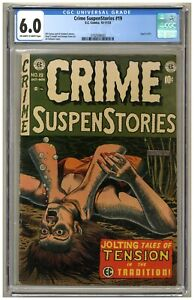 Crime SuspenStories 19 (CGC 6.0) OW/W pages; Crandall art; Used in SOTI (j#4744)
