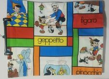 Vintage Disney's Pinocchio Standard Pillow Sham Double Sided Geppetto Figaro