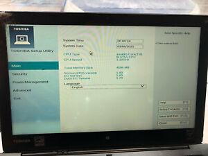 Toshiba Portege Z20t-B-10H Convertible Touchscreen Ultrabook- For parts