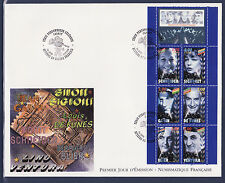 grande enveloppe 1er jour   bande personnages     ; 1998