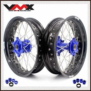 VMX 3.5/5.0 New Supermoto Wheel Black Rim Fit FE FC 250 350 450 2004-2014 Blue