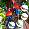 Resin Lifelike Bird Ornament Figurine Parrot Model Toy Statue Lawn Sculpture