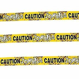 50cm long ZOMBIES CAUTION TAPE Halloween party Creepy Warning Tape Decoration