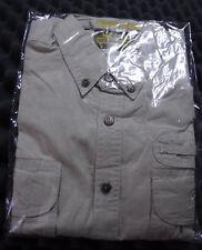 Camel Trophy Adventure Wear Safari Shirt Cargo Button Short Sleeve Grey Size XL