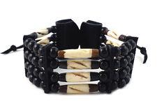 Handmade Traditional 4 Row Buffalo Bone Hairipe Beads Tribal Bracelet