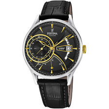 A Brand New Festina Gents F16985/4 Mult-Function Dual Time Zone Date Dress Watch