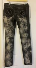 New Women Rocawear Distressed Jeans 13 Black Skinny Leg