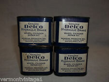 Lot of 4 Antique NOS 1946 Delco Wheel Cylinder Repair Kit Buick Cadillac Pontiac