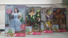1999 Barbie Wizard of Oz Set 4Dorothy & Toto doll, Tin Man, Lion & Scarecrow NIB