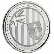 MONTSERRAT 2 Dollars Argent 1 Once Ile Emeraude des Caraibes 2018
