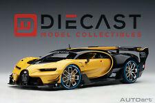 AUTOart 70989 Bugatti Vision Gran Turismo (Giallo Midas/Black Carbon) 1:18 Scale