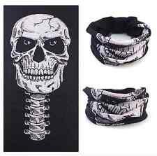 cagoule tour de cou tete de mort skull masque moto microfibre noir cache nez