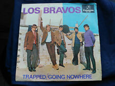 SINGLE LOS BRAVOS - TRAPPED / GOING NOWHERE - COLUMBIA SPAIN 1966 VG/VG+