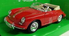 Nex Models 1/24 Scale 29390W Porsche 356B Cabriolet Red Diecast model car