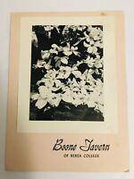 Vintage 1954 Boone Tavern Of Berea College Resturant Menu