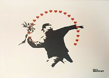 Mrs Banksy Flower Thrower (Love) Limited Edition Spray Print. Banksy. Not...