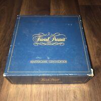 Vintage Trivial Pursuit Original GENUS MASTER Board Game 1st Edition 1981